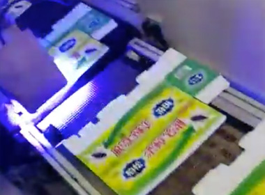 Plasma machine to process mosquito repellent wrapping paper before spraying QR code